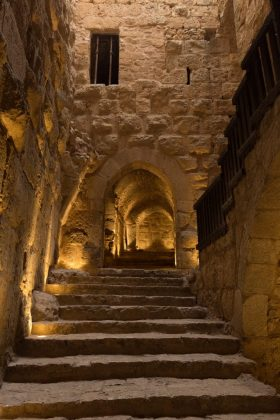 Escaleras del del castillo de Ajlun