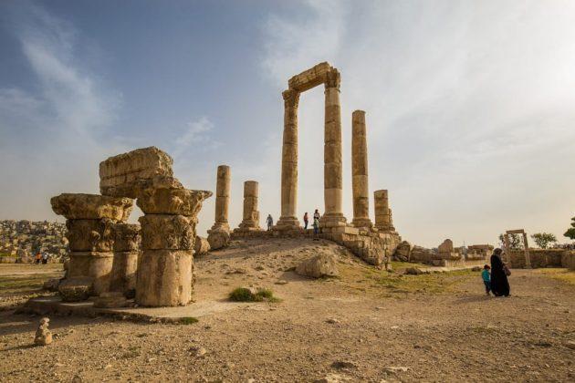 Templo de Hércules en la Ciudadela de Amman