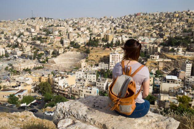 Vistas Teatro Romano desde la Ciudadela de Amman