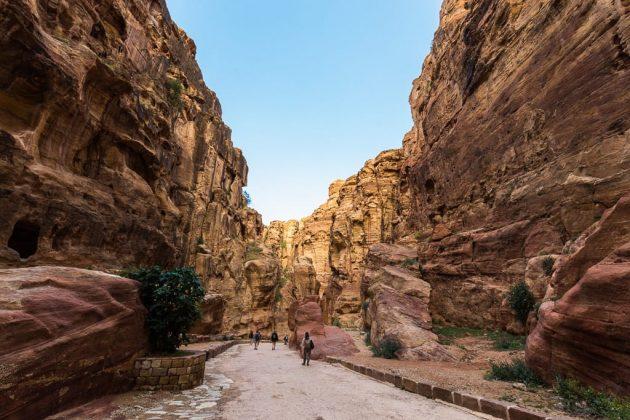 El Siq, camino del Tesoro de Petra