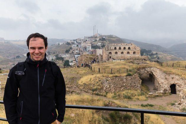 Vistas de la parte superior del castillo de Al-Karak, Jordania