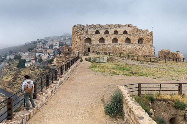 Vista general del interior del Castillo de Al-Karak, Jordania