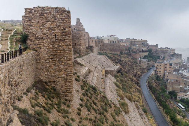 Murallas del Castillo de Al-Karak, Jordania