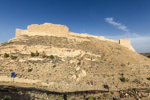 Vista general del Castillo de Shobak, Jordania