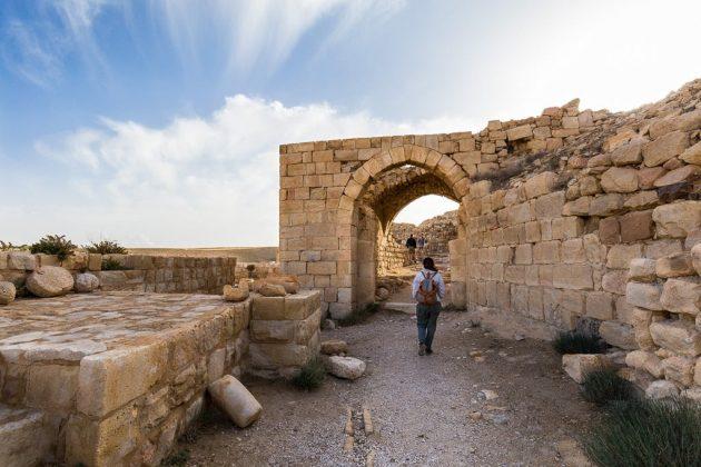 Paseando entre las ruinas del Castillo de Shobak, Jordania