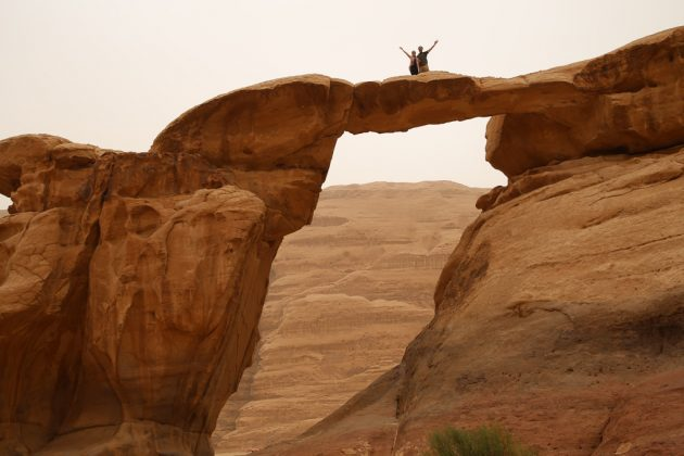 El puente Umm Fruth en Wadi Rum