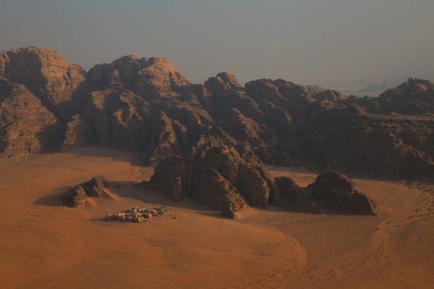 Wadi Rum visto desde las alturas