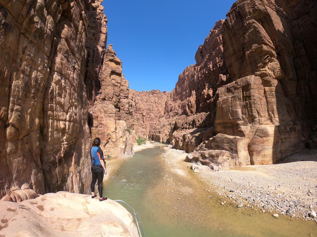 Inicio del recorrido de barranquismo por Wadi Mujib