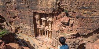 El Tesoro de Petra visto desde un mirador