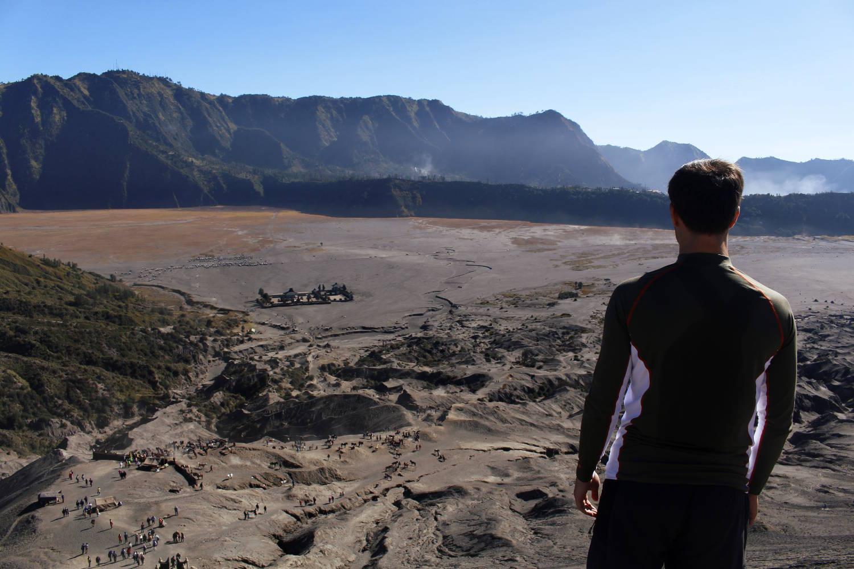Vistas del mar de arena desde el monte Bromo