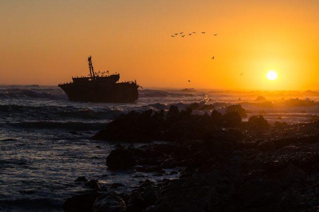 Atardecer en el cabo de Agujas (Sudáfrica)