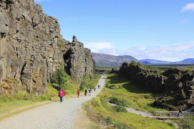 Falla Almannagja en Thingvellir (Islandia)