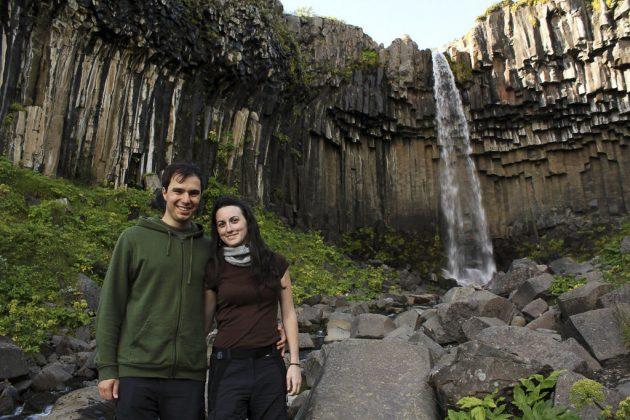 Cascada Svartifoss (Islandia)